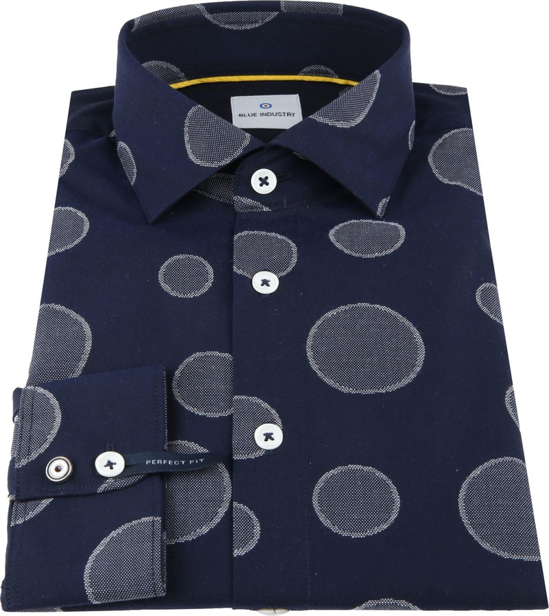 Blue Industry Shirt Big Dots photo 2