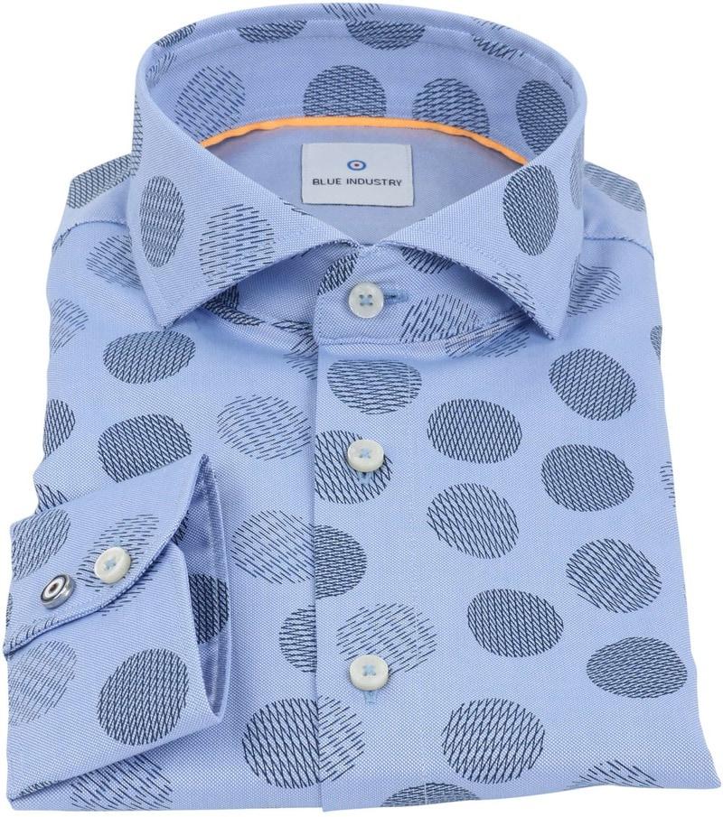 Detail Blue Industry Shirt Blauw Stip