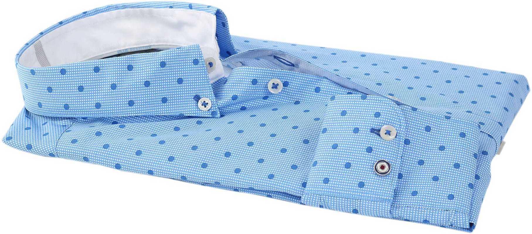 Detail Blue Industry Shirt Blauwe Print