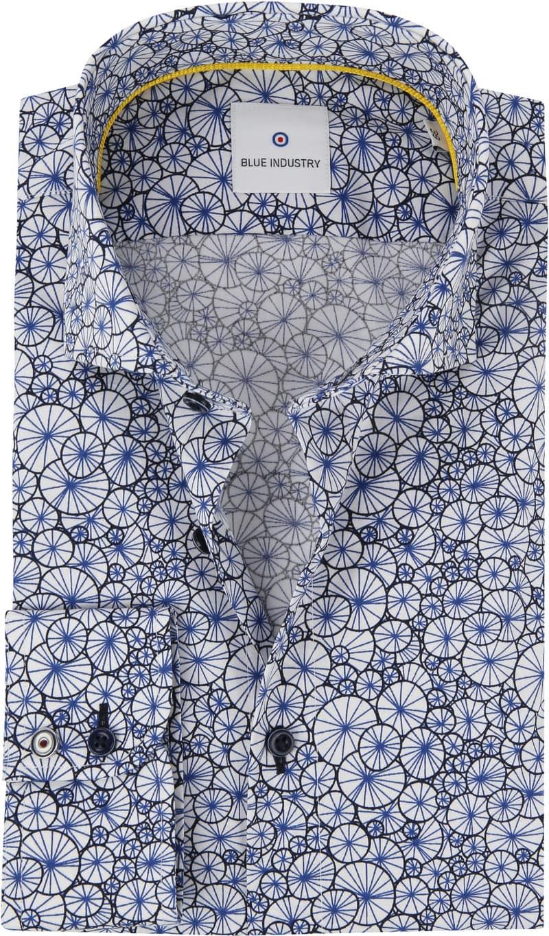 Blue Industry Shirt Blue Dessin photo 0