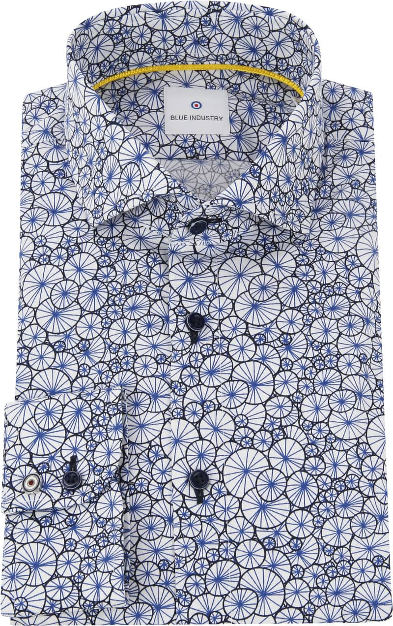 Blue Industry Shirt Blue Dessin photo 2