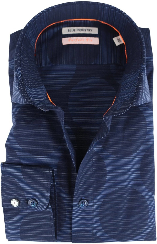 Blue Industry Shirt Donkerblauwe Cirkels  online bestellen | Suitable