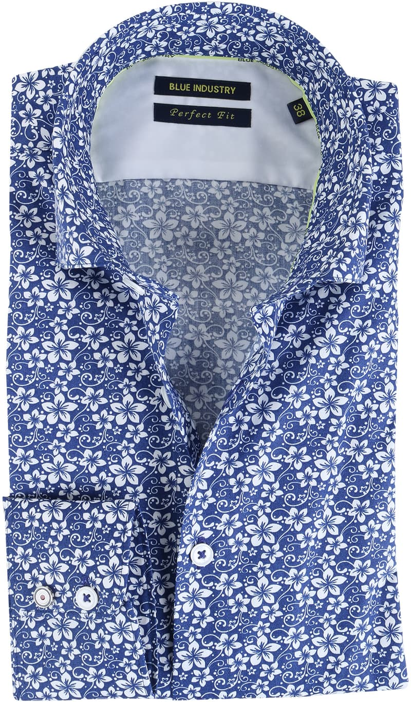 Blue Industry Shirt Floral Blue  online bestellen | Suitable