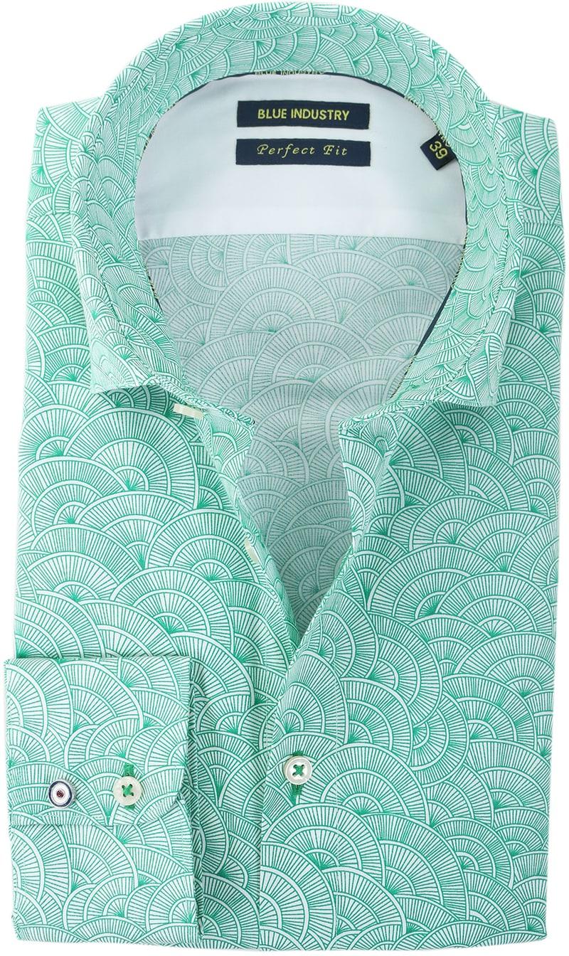 Blue Industry Shirt Green Prints  online bestellen | Suitable