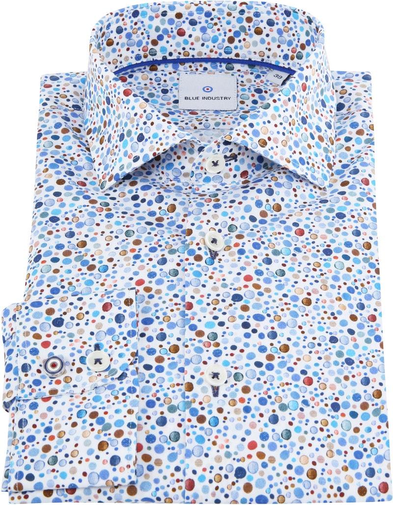 Blue Industry Shirt Multicolor Bubble photo 2