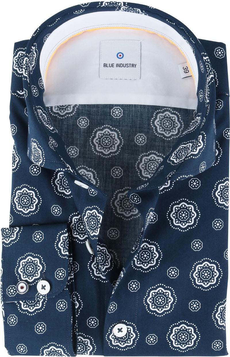 Blue Industry Shirt Navy Bloem  online bestellen | Suitable