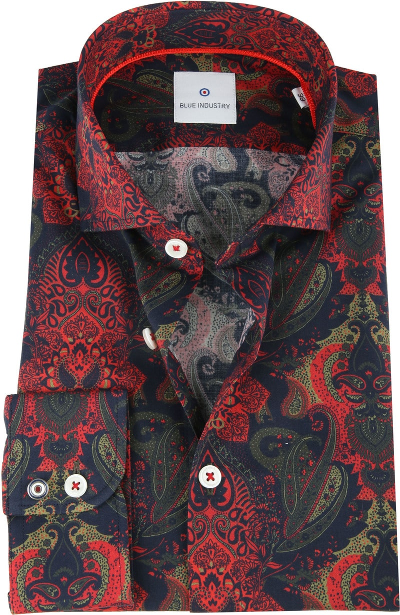 Blue Industry Shirt Paisley Red photo 0