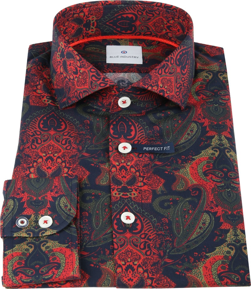 Blue Industry Shirt Paisley Red photo 2