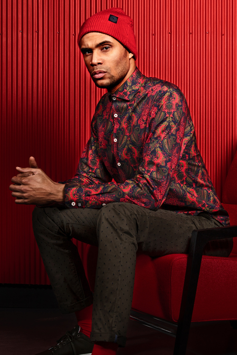 Blue Industry Shirt Paisley Red photo 3