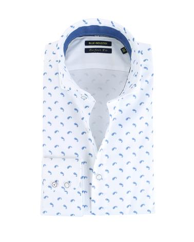 Blue Industry Shirt Print Wit  online bestellen | Suitable
