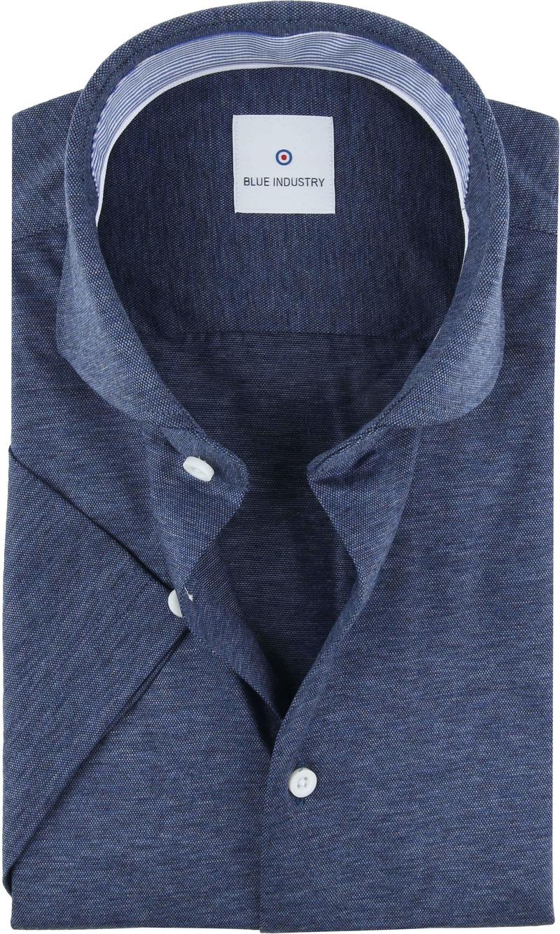 Blue Industry Shirt Short Sleeves Dark Blue photo 0