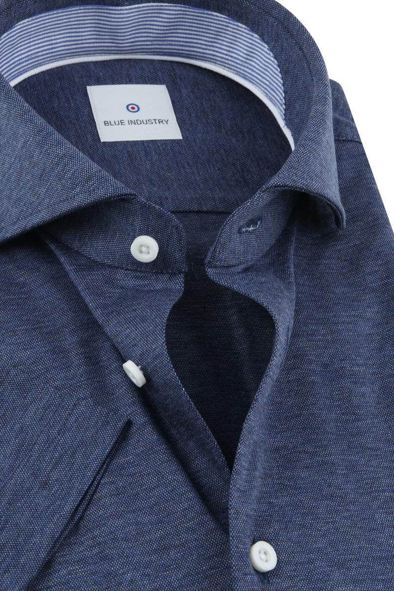 Blue Industry Shirt Short Sleeves Dark Blue photo 1