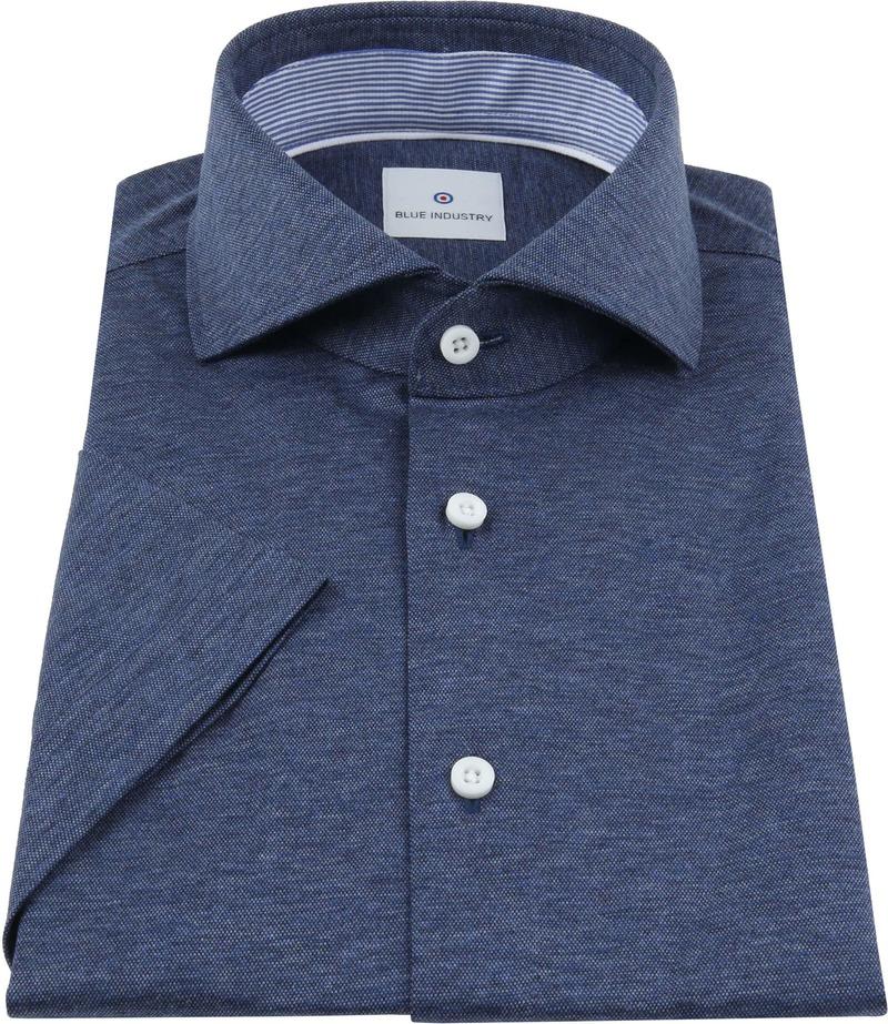 Blue Industry Shirt Short Sleeves Dark Blue photo 2