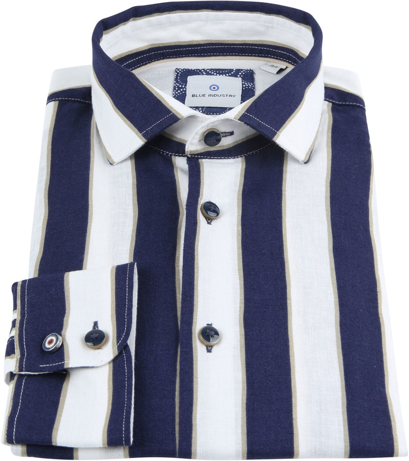 Blue Industry Shirt Stripe Blue photo 1