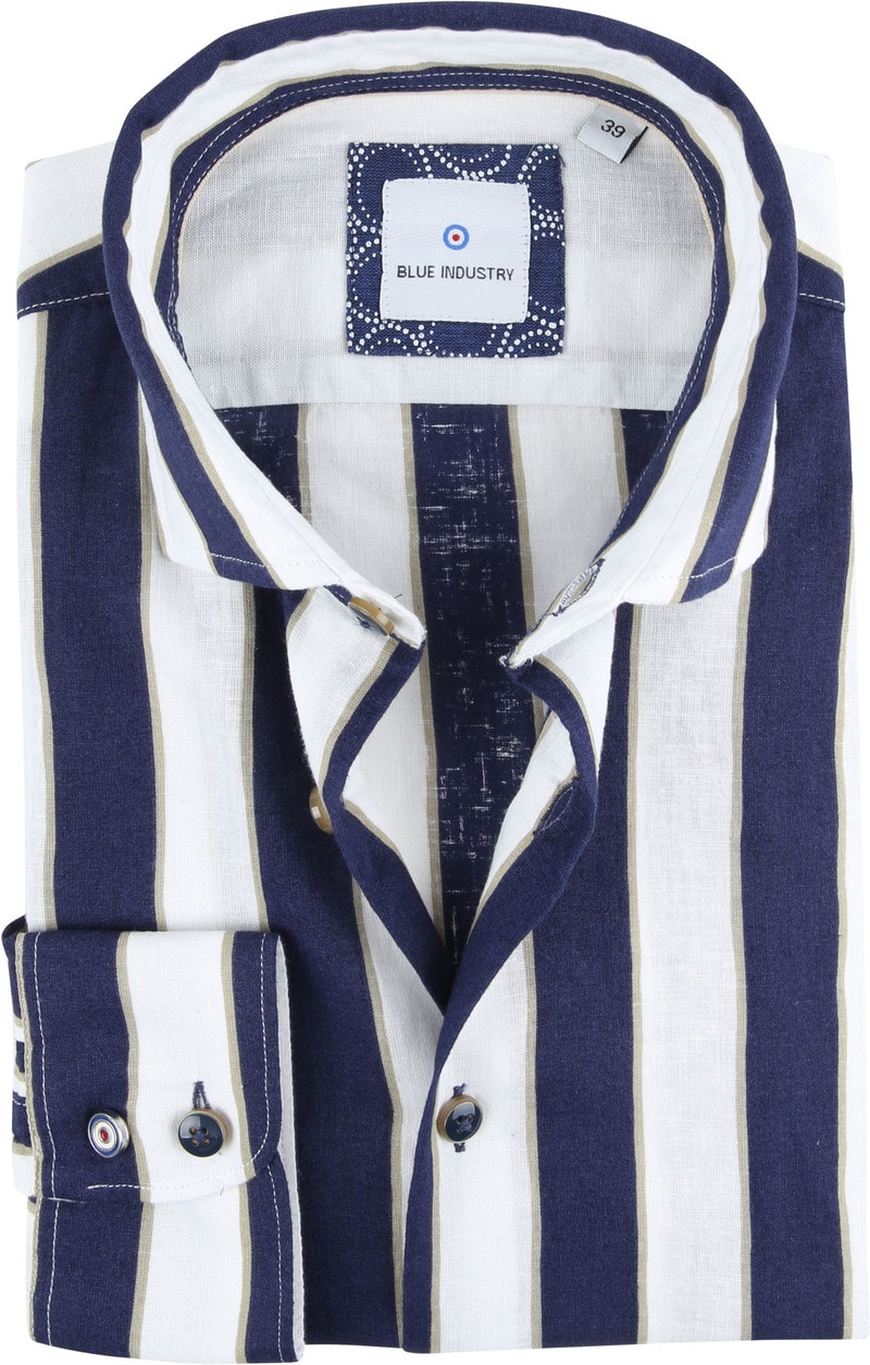 Blue Industry Shirt Stripe Blue photo 0