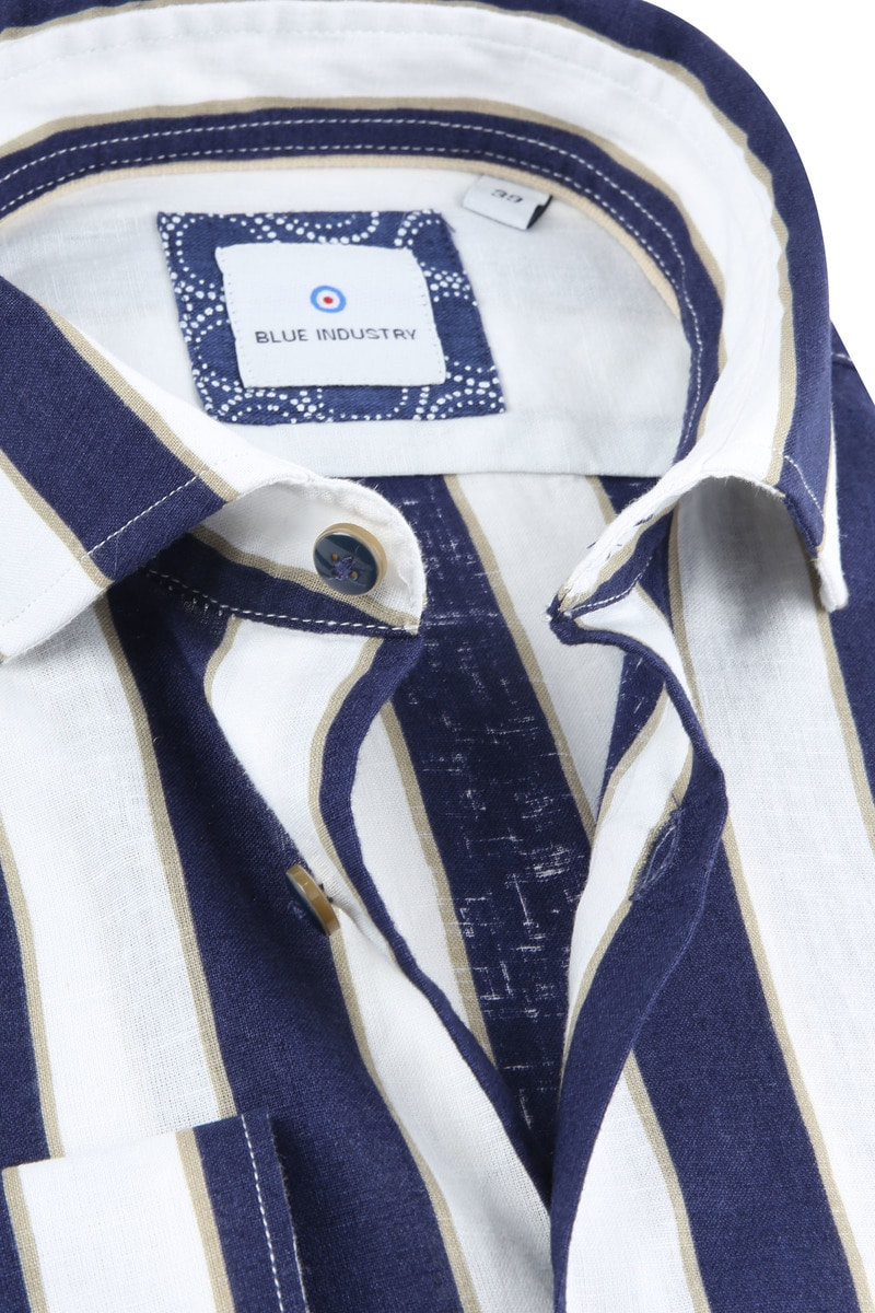Blue Industry Shirt Stripe Blue photo 2