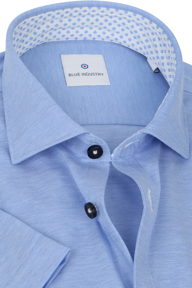 Blue Industry SS Overhemd Jersey Blauw