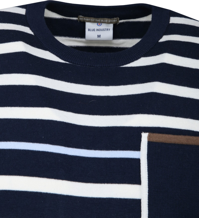 Blue Industry Stripe Pullover Navy photo 1