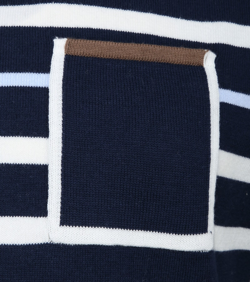 Blue Industry Stripe Pullover Navy photo 2