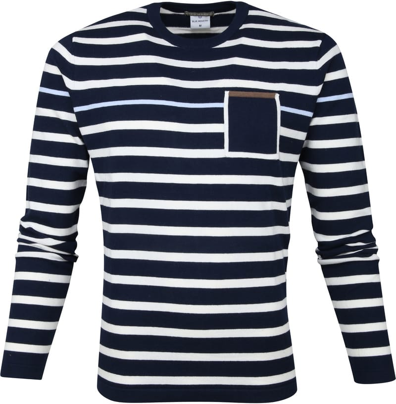 Blue Industry Stripe Pullover Navy photo 0