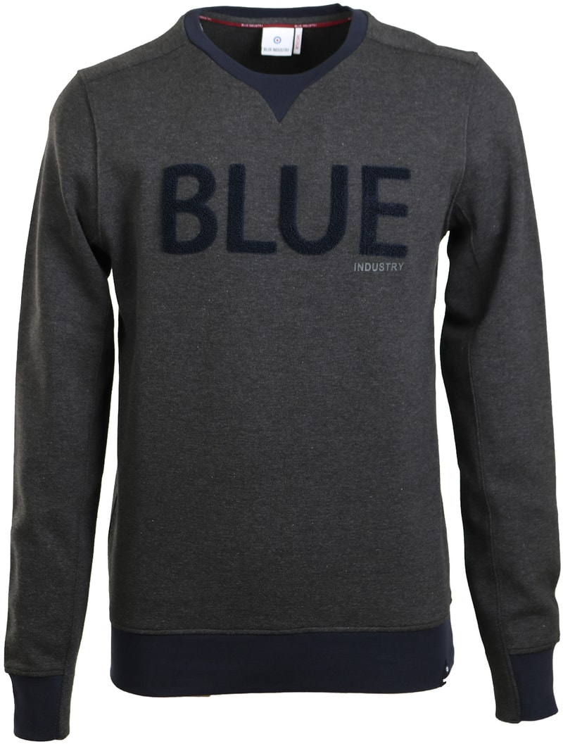 Blue Industry Sweater Donkergrijs  online bestellen | Suitable