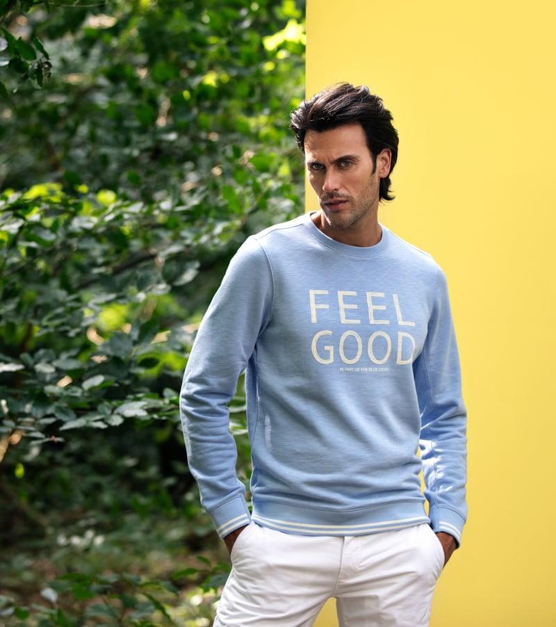 Detail Blue Industry Sweater Feel Good