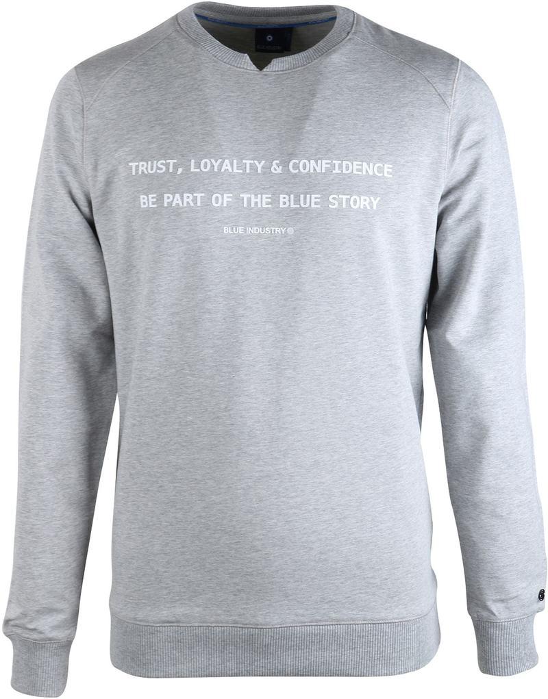 Blue Industry Sweater Grijs  online bestellen   Suitable