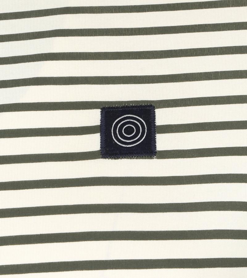 Blue Industry T-Shirt M41 Strepen Donkergroen