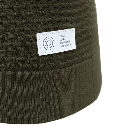 Detail Blue Industry Vest met Rits Groen
