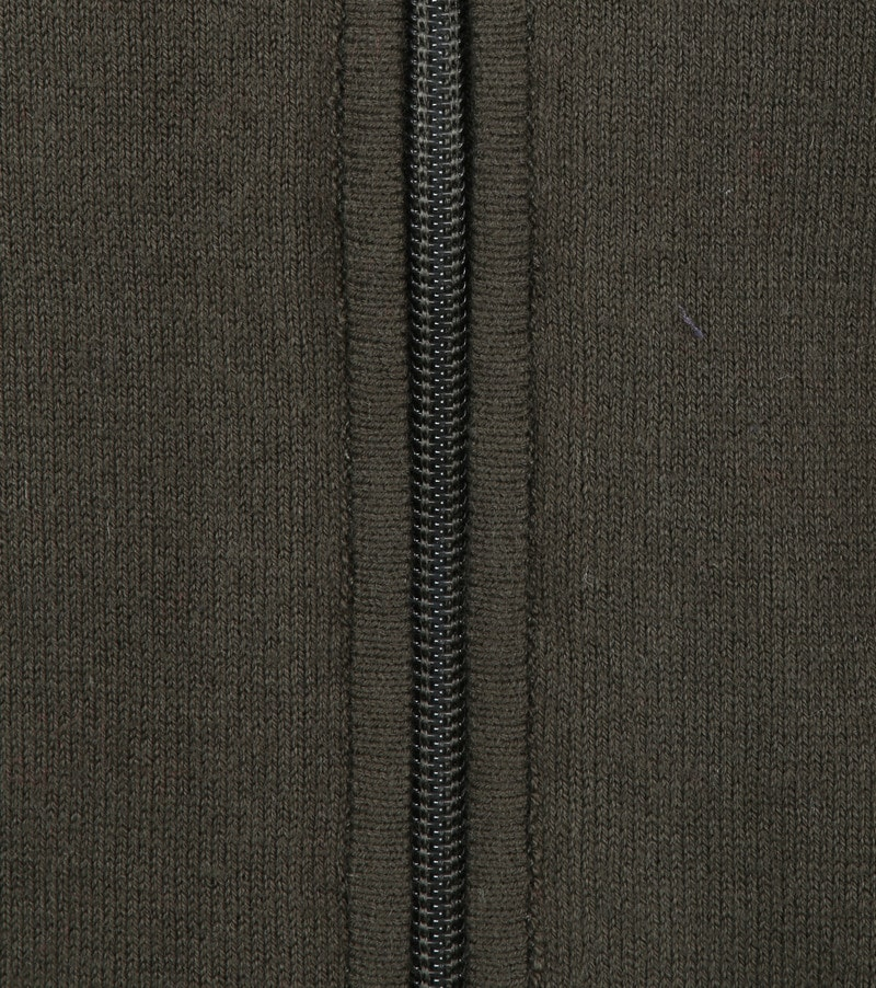 Blue Industry Zipper Cardigan Dark Green photo 2