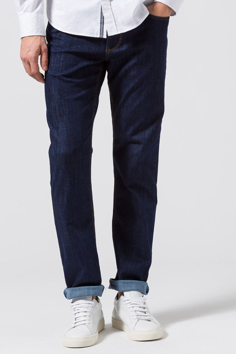 Brax Cooper Denim Jeans Five Pocket - Donkerblauw maat W 35 - L 30