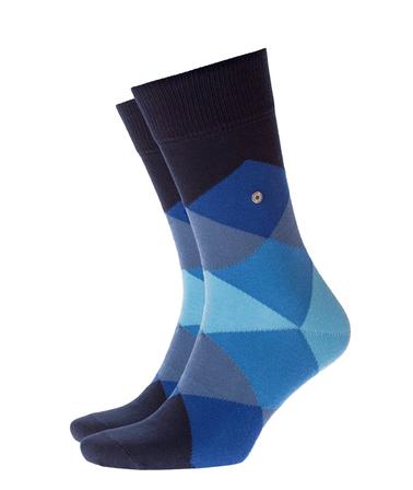 Burlington Clyde Sok Blauw/Zwart  online bestellen   Suitable