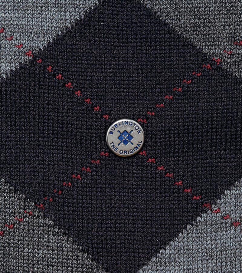 Burlington Edinburgh Knee Socks Dark Blue 6377