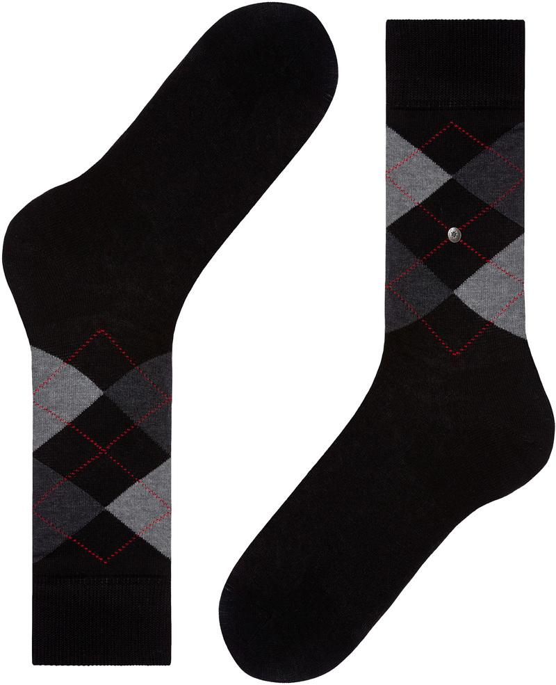 Burlington Socken Kariert Baumwolle 3000 Foto 3