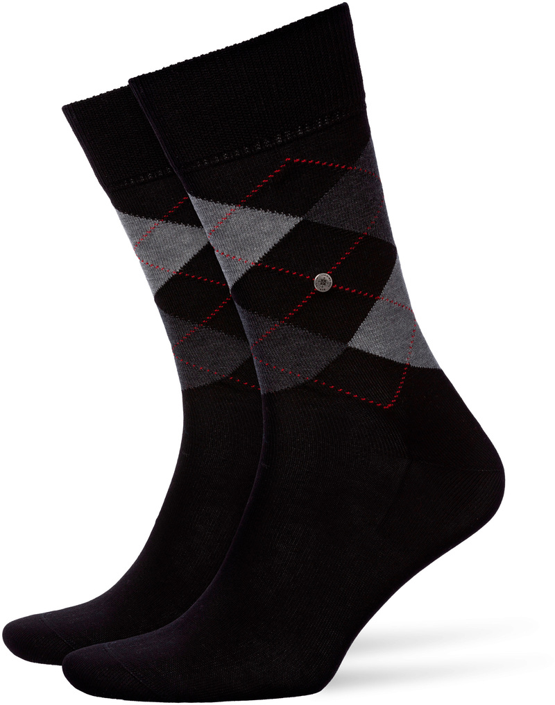 Burlington Socks Checkered Cotton 3000