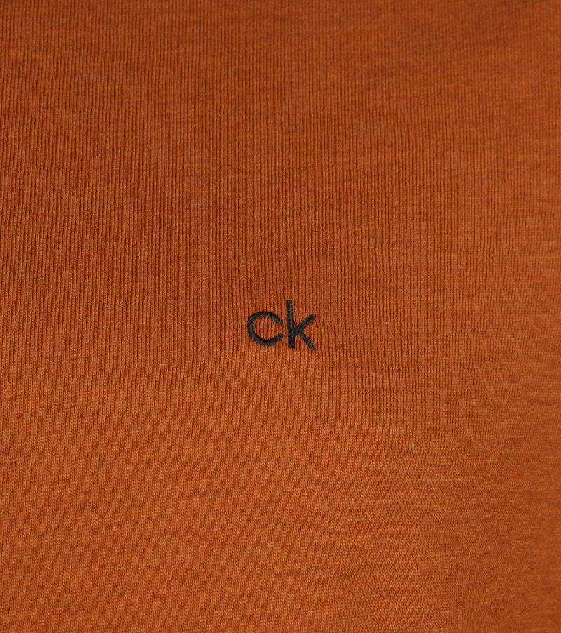 Calvin Klein LS Polo Bruin foto 2