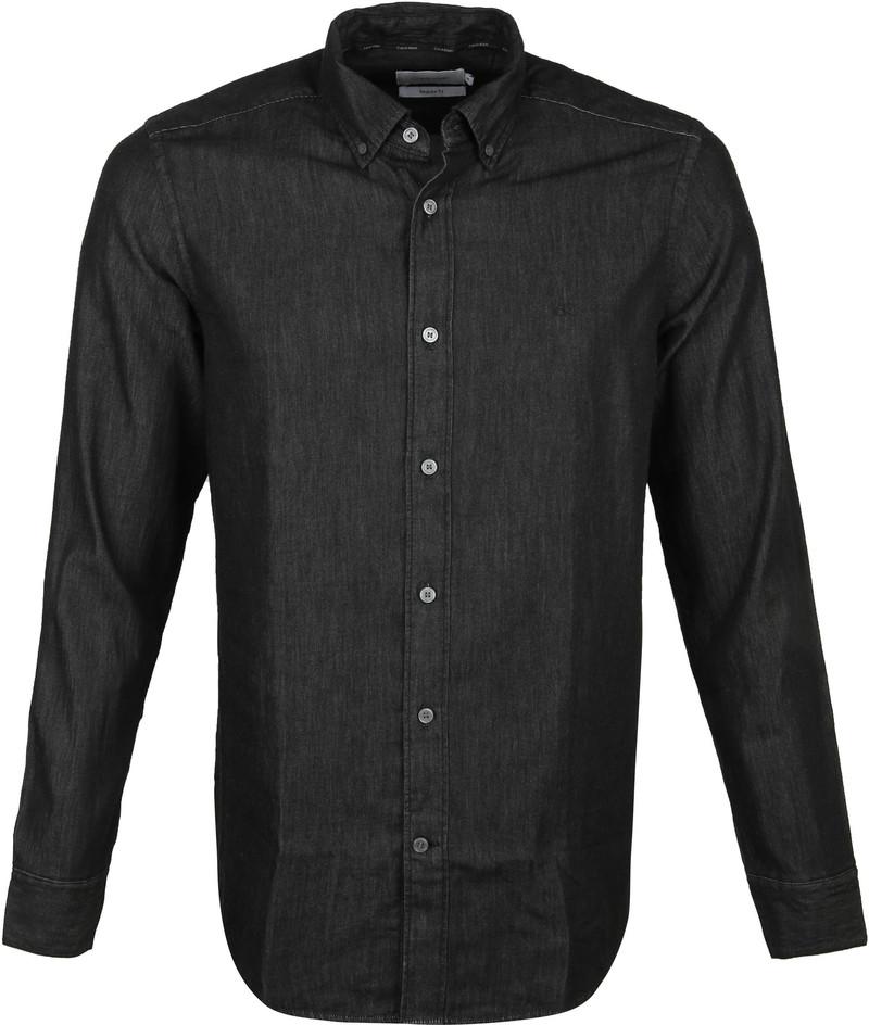 Calvin Klein Overhemd Denim Zwart foto 0