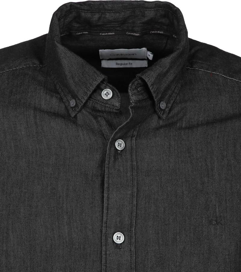 Calvin Klein Overhemd Denim Zwart foto 1