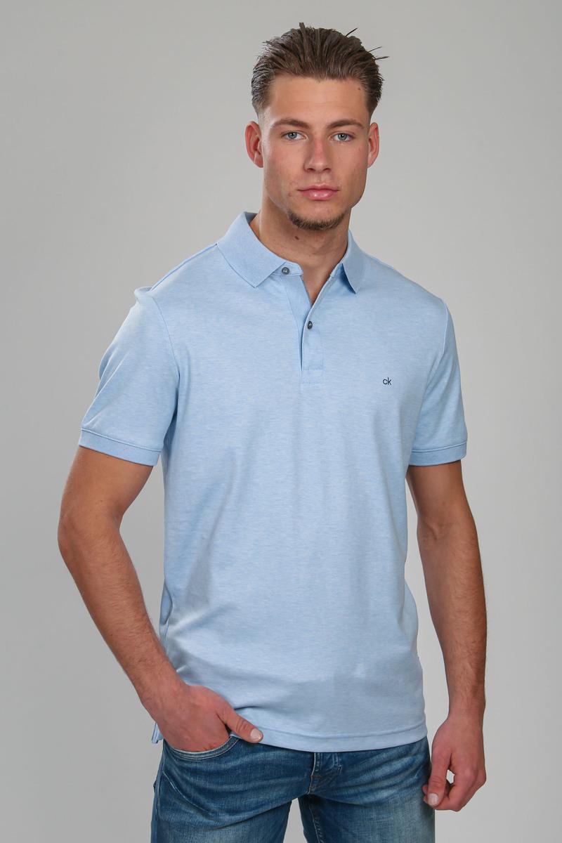 Calvin Klein Polo Slim Lichtblauw