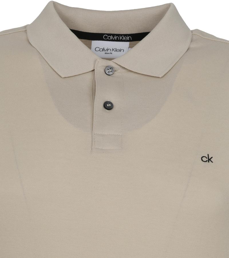 Calvin Klein Polo Slim Logo Lichtgrijs