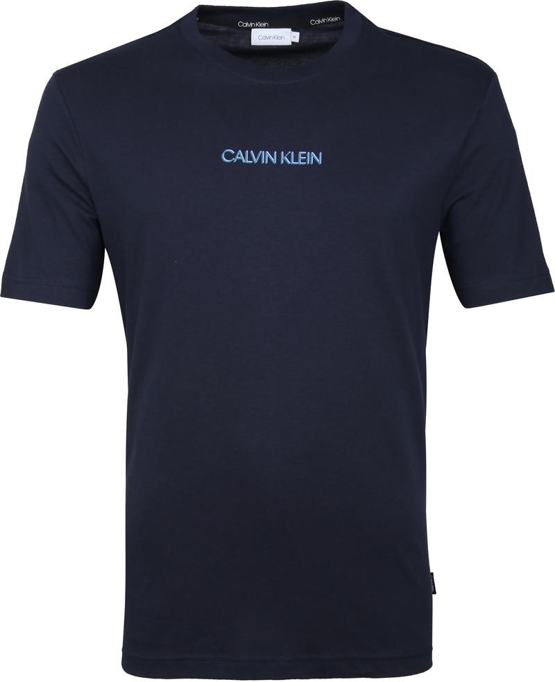 Calvin Klein T-Shirt Logo Bleu Foto 0