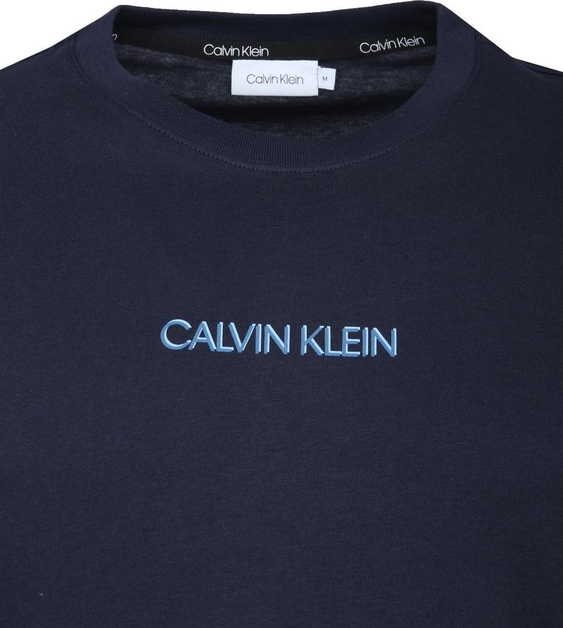 Calvin Klein T-Shirt Logo Bleu Foto 1