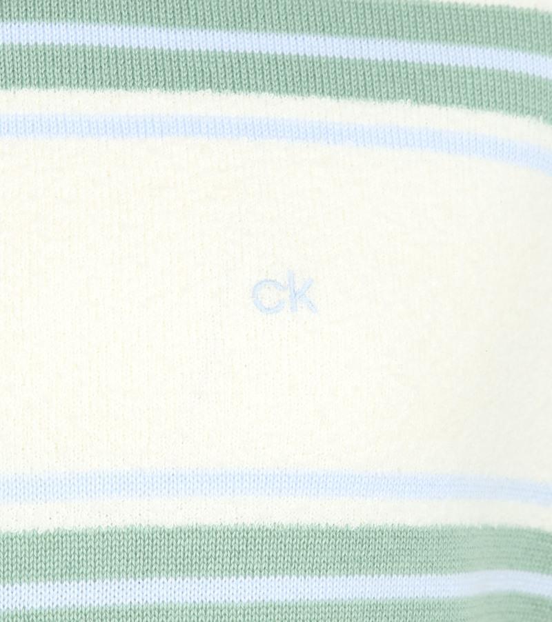 Calvin Klein Trui Strepen Off-White