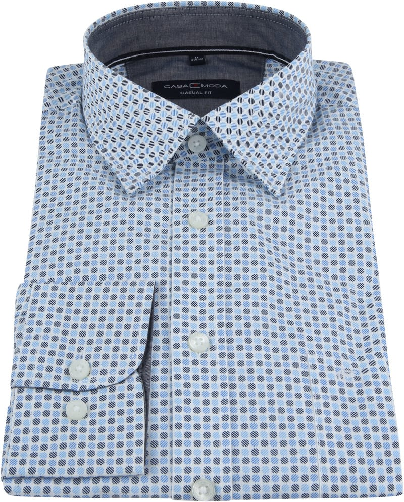 Casa Moda Casual Shirt Dots Blue photo 2