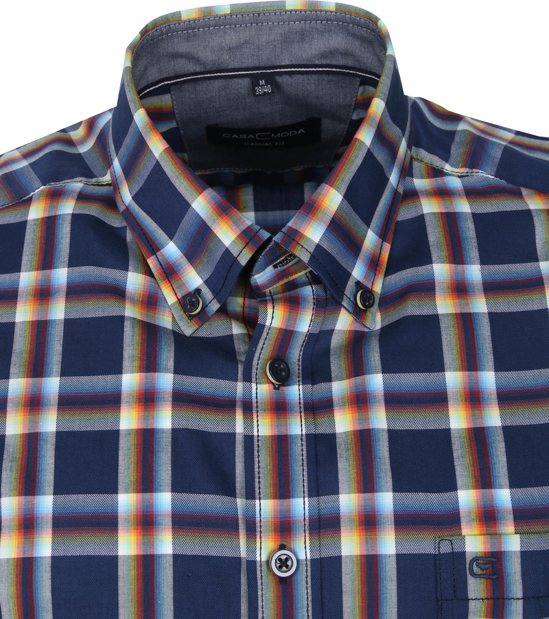 Casa Moda Casual Shirt Pane Dark Blue
