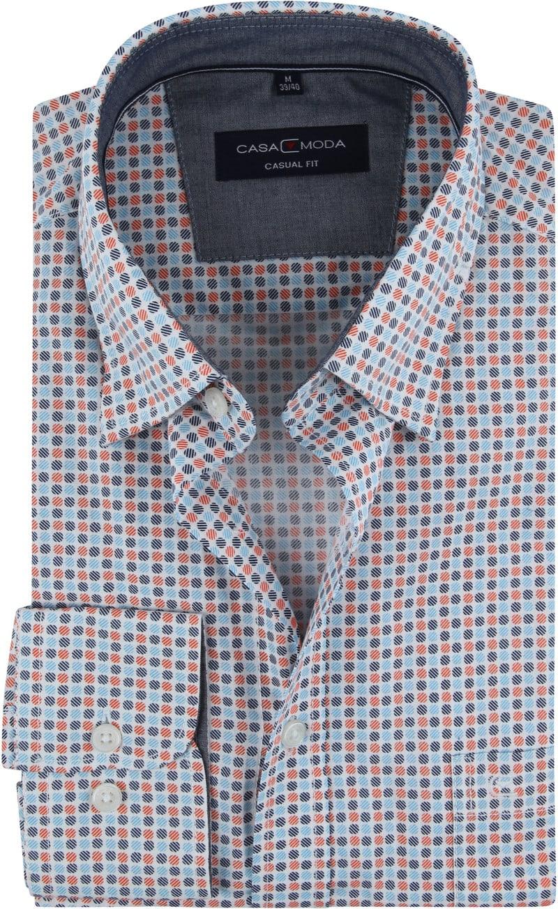 Casa Moda Freizeithemd Punkte Orange Foto 0