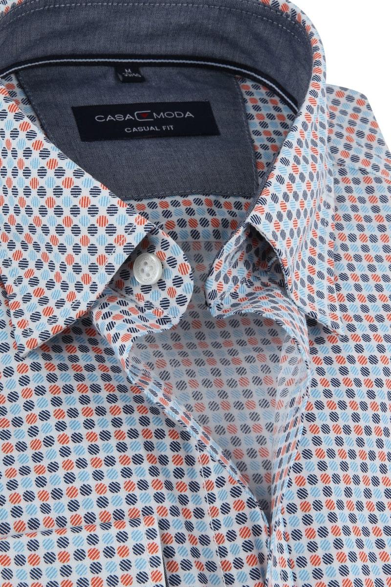 Casa Moda Freizeithemd Punkte Orange Foto 1