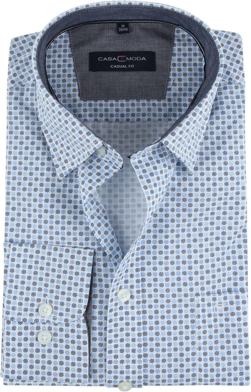 Casa Moda Overhemd Stippen Blauw foto 0