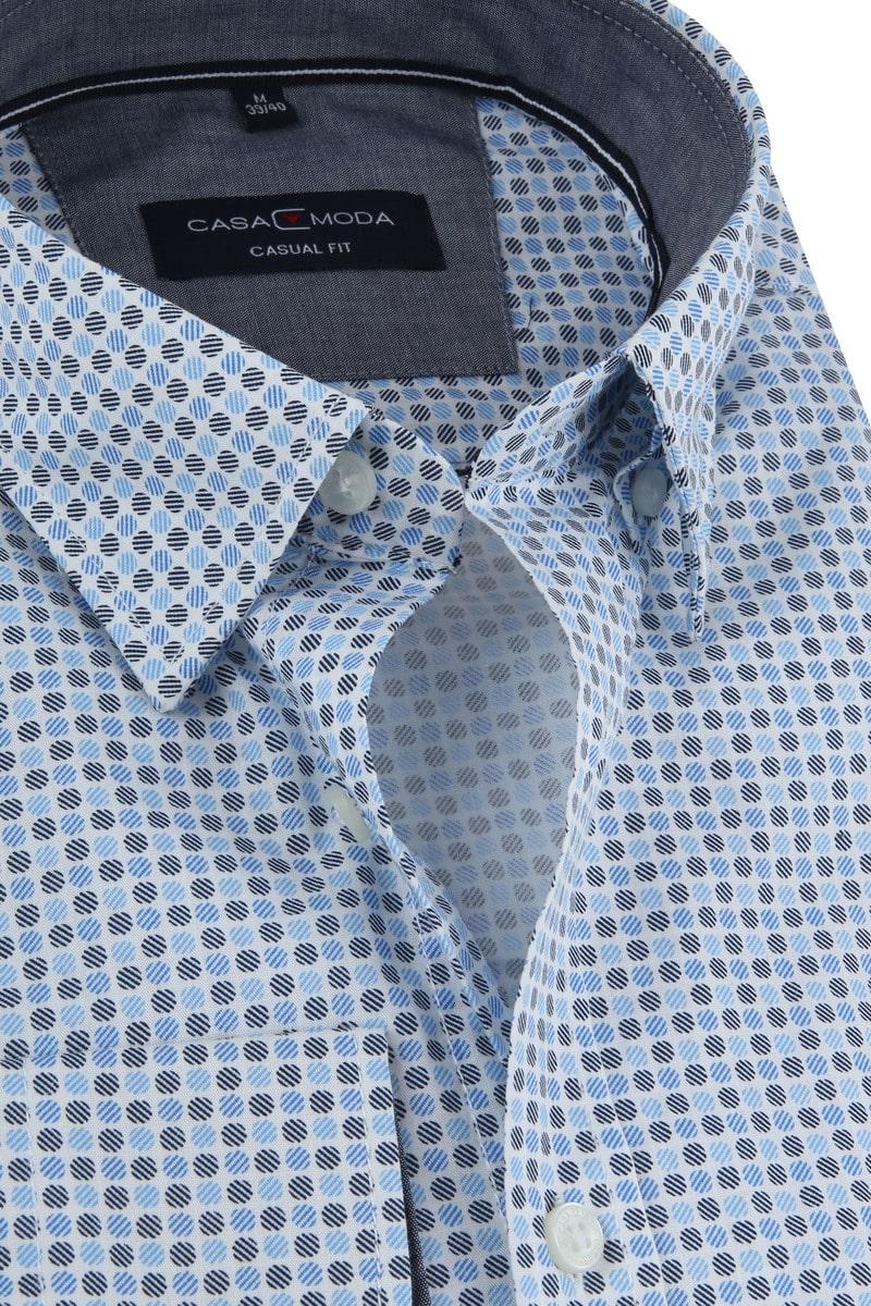 Casa Moda Overhemd Stippen Blauw foto 1