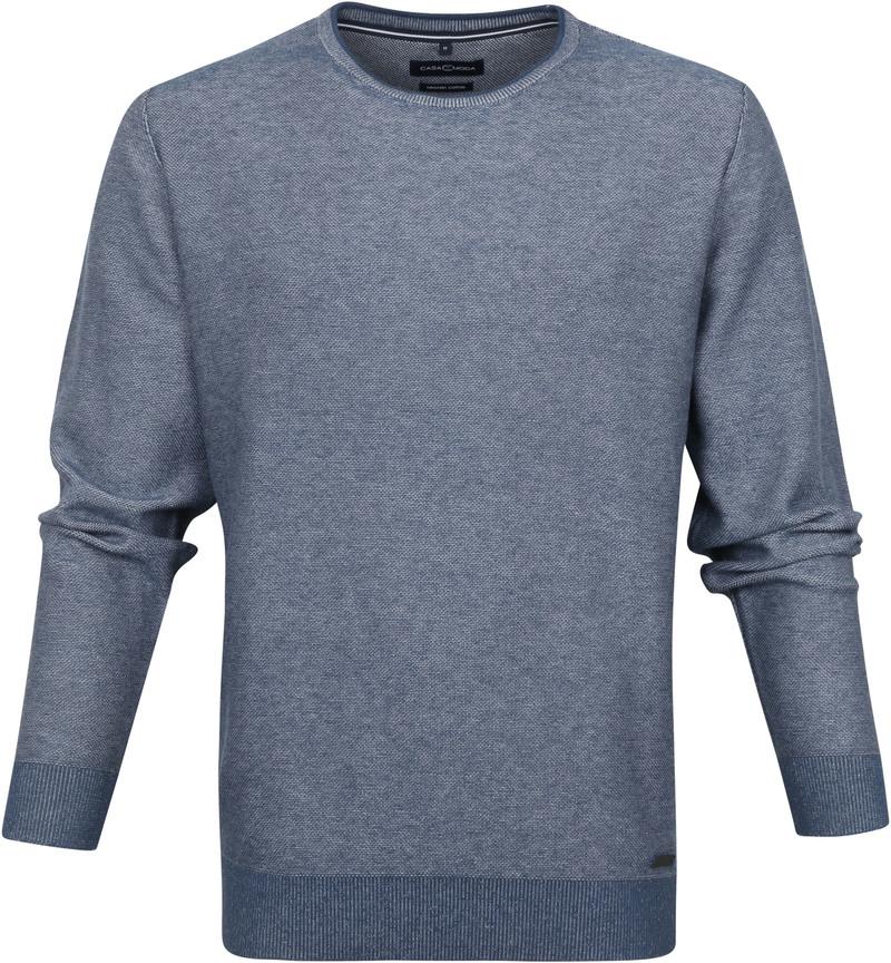 Casa Moda Pullover O-Hals Blauw